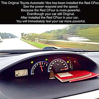 This Original Toyota Automatic Vios has been installed the Red CFour.