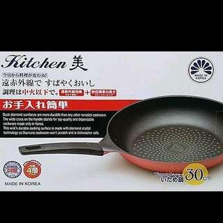 韓製鑽石平底鍋
