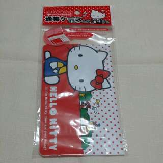 全新 日本帶回 Hello Kitty 銀行存簿收納套