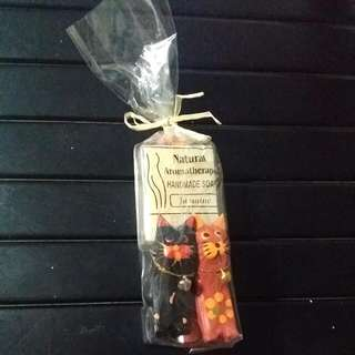 🔥Sale! Natural Handmade Soap With Lovely Wooden Kittens!