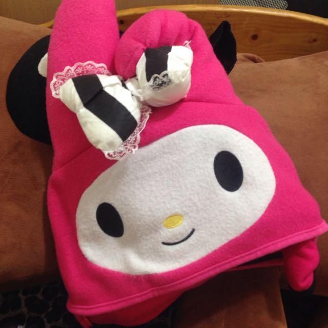 (保留)美樂蒂抱枕+披肩