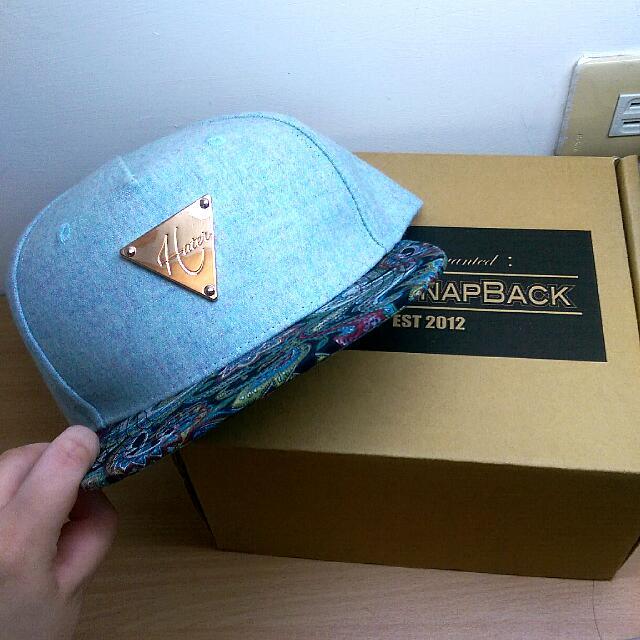 正品 Hater IDC 水藍色帽子