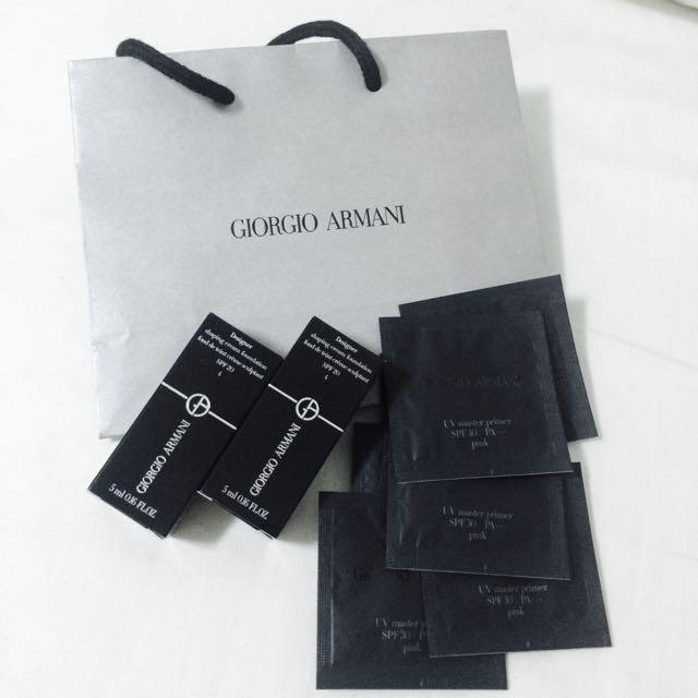 GIORGIO ARMANI 設計師粉底霜4 UV防護妝前乳(粉紅)