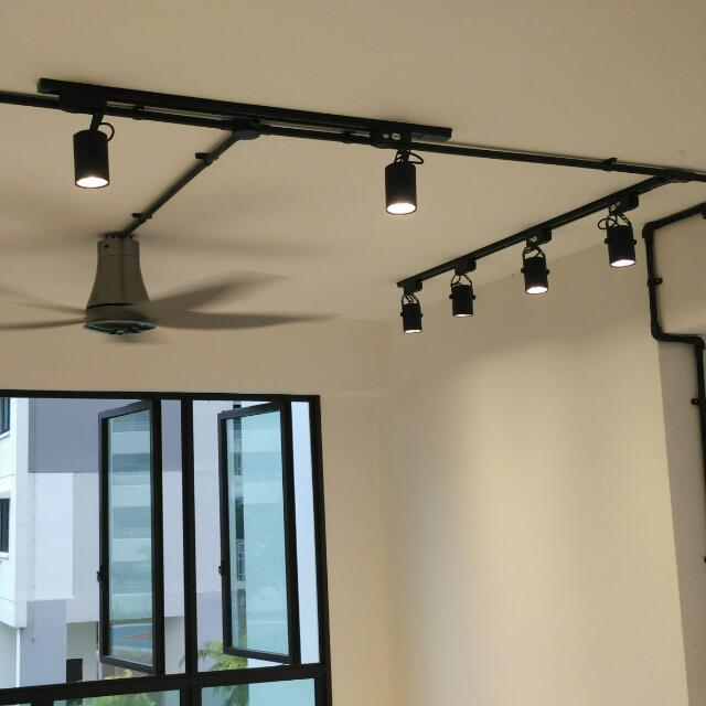 Living Room Track Lighting: Hdb BTO Living Room Track Light And Fan Package (NO