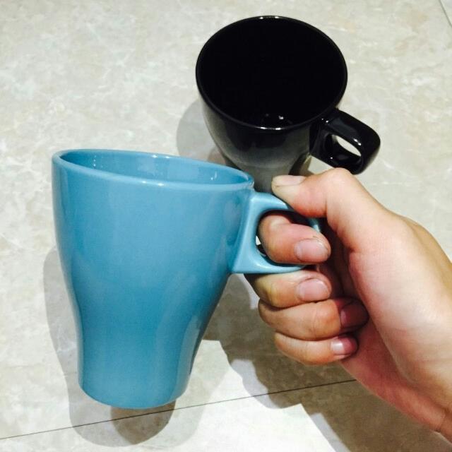 [近新品]IKEA水杯 咖啡杯 藍色 黑色