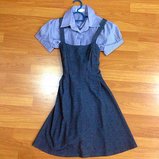 [MSIA] Kitschen Gray Pinafore. Size S