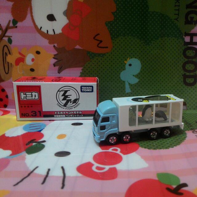 TOMY TOMICA 多美合金小汽車 EVENT MODEL會場限定特注 31 移動動物園 企鵝運輸車