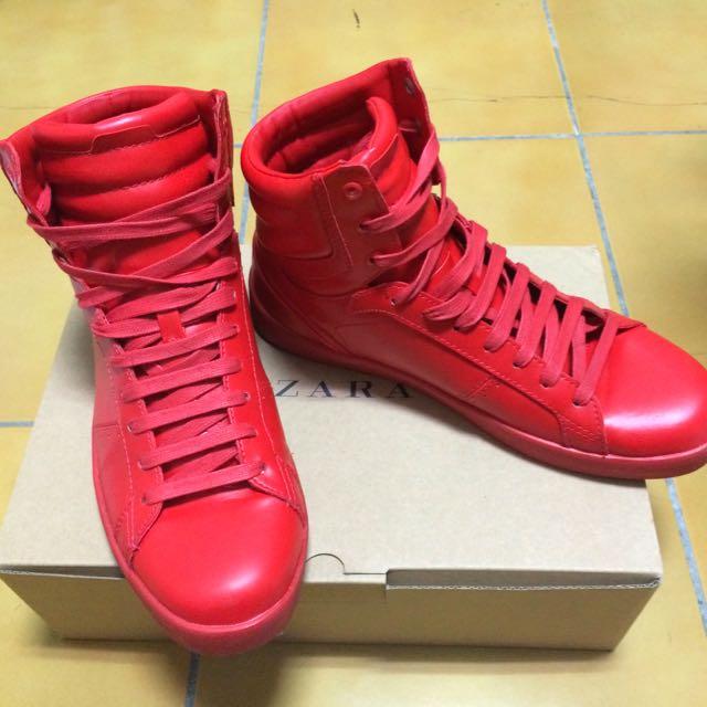 Zara秋冬新款紅色拳擊鞋 尺寸EU40