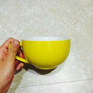 [近新品]咖啡杯 拉花杯 黃色