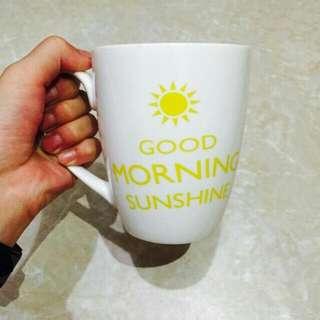 [近新品]水杯 咖啡杯 早餐杯 白色