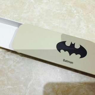 [全新品]蝙蝠俠bat man鐵製滑蓋鉛筆盒