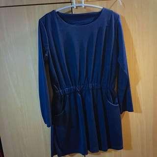(全新)靛藍色小洋裝(含運)