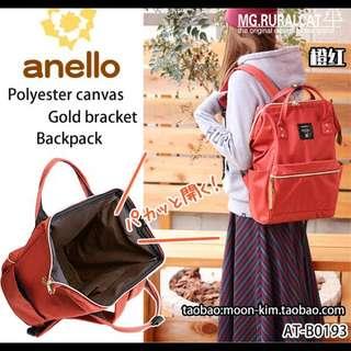 (現貨+預購)日本同步原廠原單超大容量ANELLO 媽媽包 後背包 *素色紅色