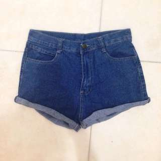 Denim Highwaisted Shorts