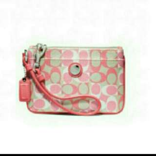 Coach Waverly Signature Small Wristlet - Authentic