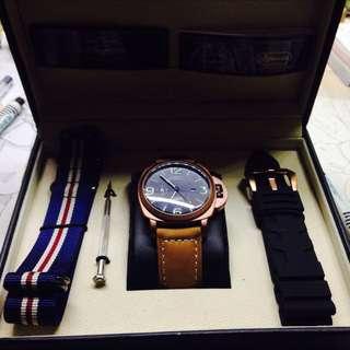 (已售出)原價7980 正版ROWANA皇室典藏飛行紀念錶 全新