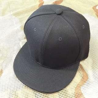 素色棒球帽(黑色)