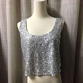 Forever 21 Sequin crop Top
