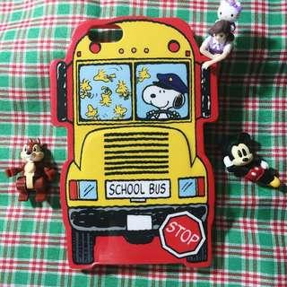 (降售)神難找的軟殼日本史奴比公車造型iPhone 6手機殼