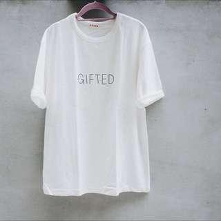 全新簡約白色長版T恤