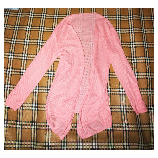 [女裝]粉紅色薄外套