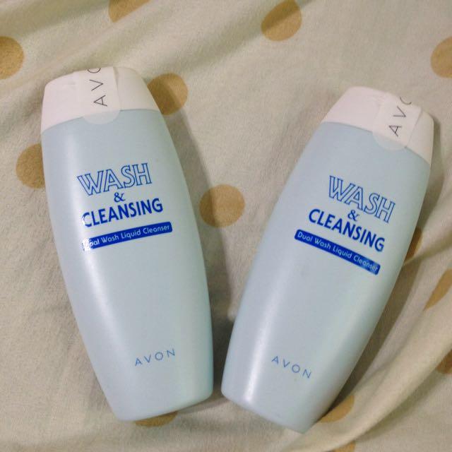 (全新)雅芳雙效洗面乳