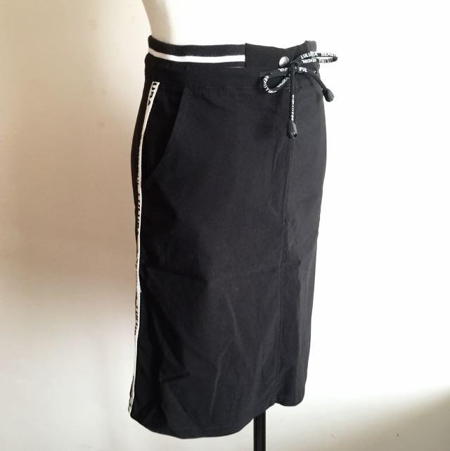 ♦️買一送一♦️黑色運動風短窄裙