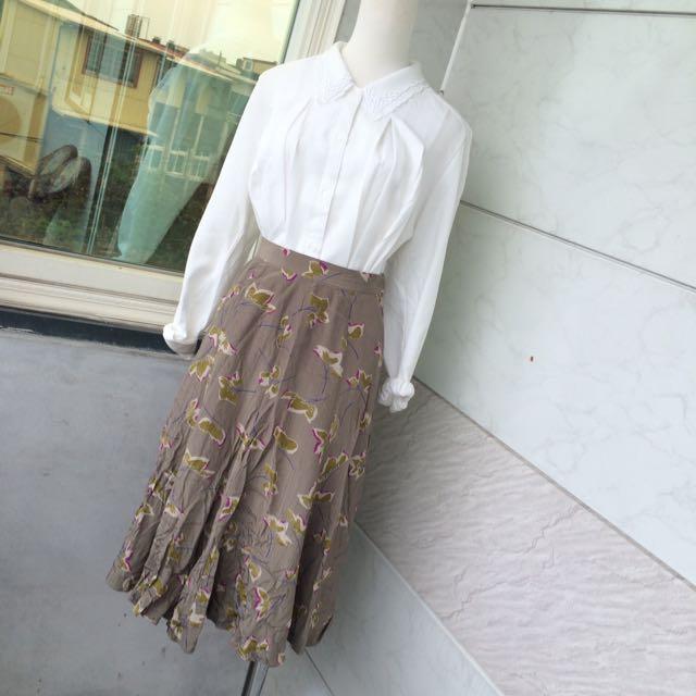 ᴠɪɴᴛᴀɢᴇ緞面花瓣高腰裙🍭含運超美