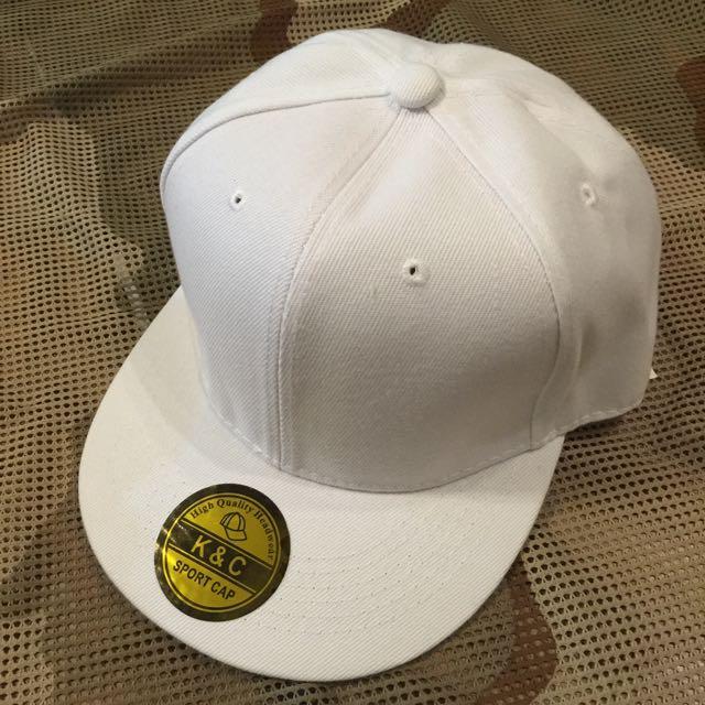 素色棒球帽(白色)