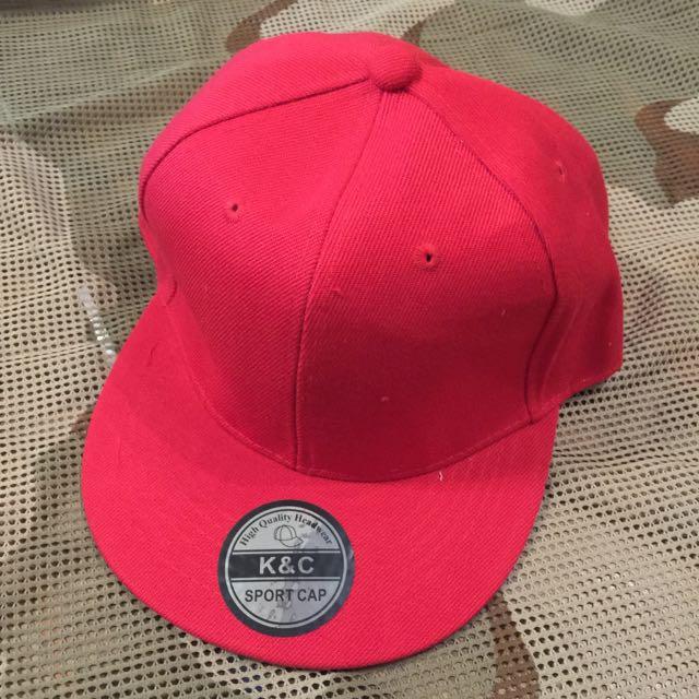 素色棒球帽(紅色)