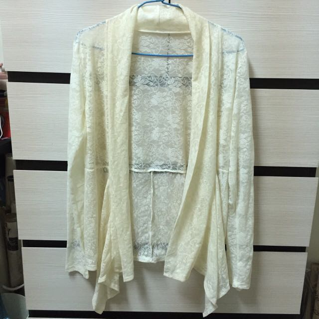 韓國製蕾絲罩衫(全新)