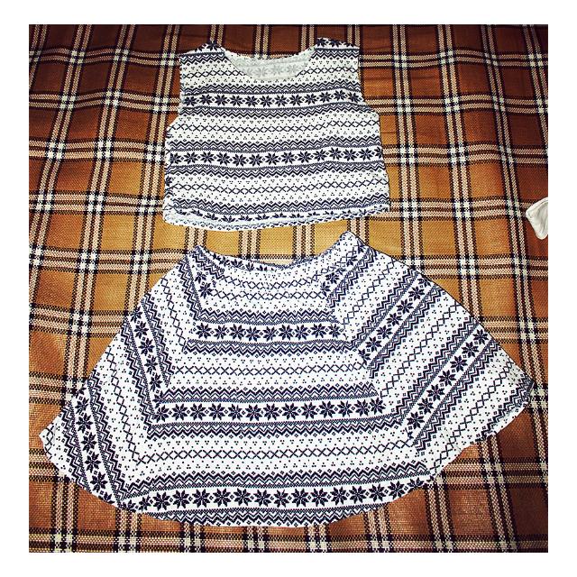 [女裝]兩件式 背心裙 套裝