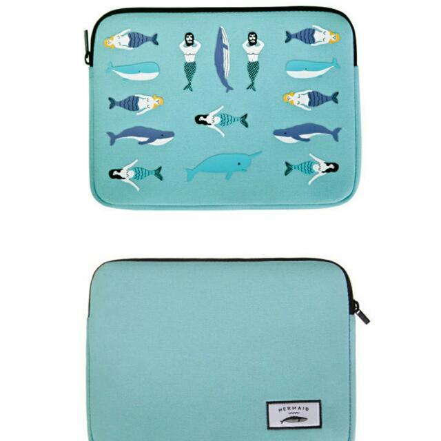 全新 滿版人魚 小平板防震包/保護套/收納袋