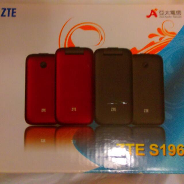 亞太機 紅色 ZTE S196 二手九成五新
