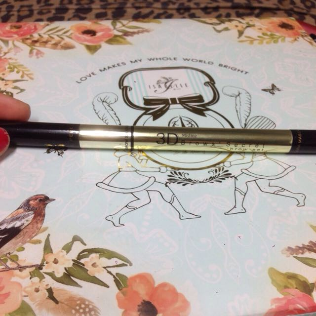 (二手)泰國 Mistine 三合一3D眉筆 (眉筆+眉粉+染眉膏) 2.45g 淺棕