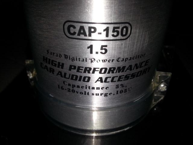 Apache Digital Power Audio Capacitor Bank 1 5F