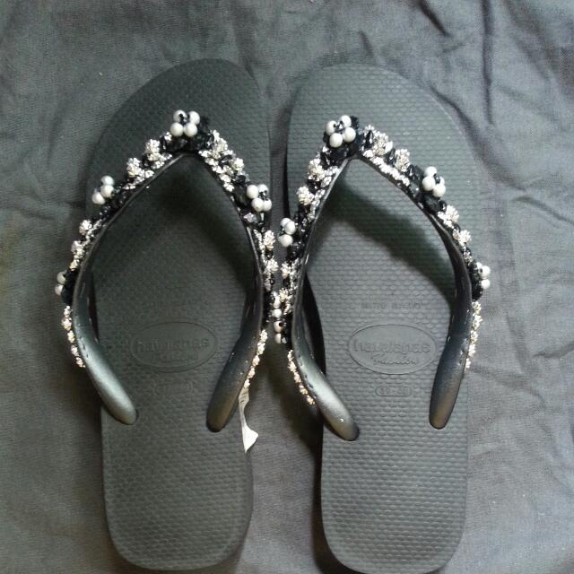 dd8baefbace054 Brand New Havaianas Jewelled Wedge Flip Flop US 7 8