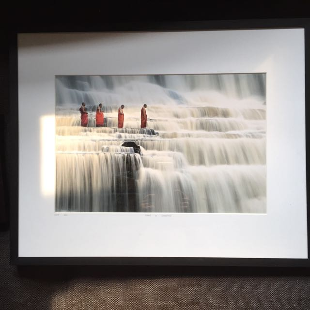 Buddha (monks In Waterfalls By Dang Ngo) Photograph Framed ...
