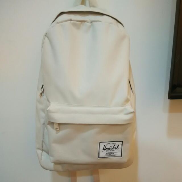 Herschel 米白色大容量後背包