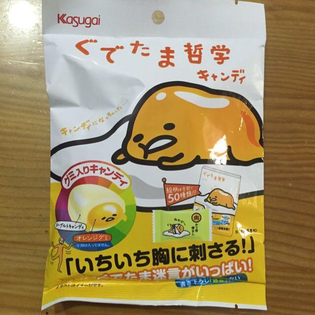[SANRIO三麗鷗] 日本限定 蛋黃哥糖果 優格糖果+橘子軟糖口味