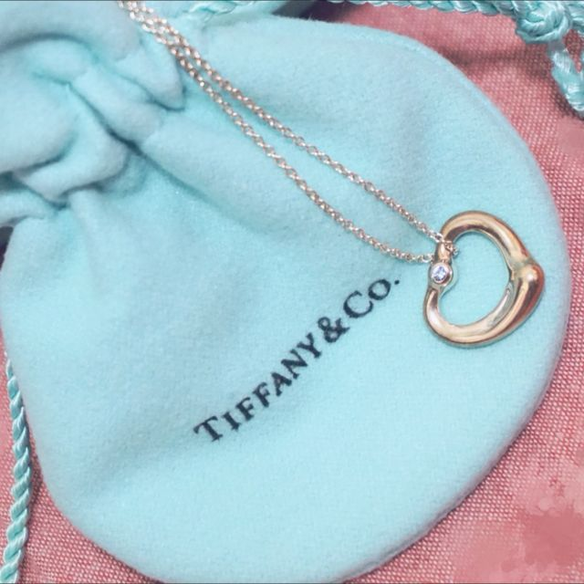 Tiffany愛心藍寶石項鍊