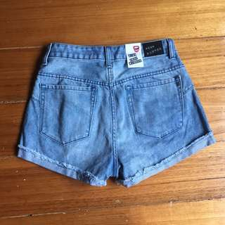 NEON BLONDE HIGH WAISTED DENIM SHORTS BRAND NEW WITH TAGS