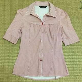 (二手)net紅直條紋襯衫-6號