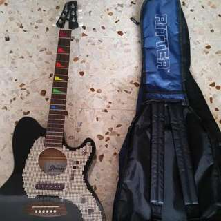 Ibanez Semi Acoustic Guitar With Soft Case