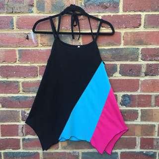 Multi Colour Sleeveless Top