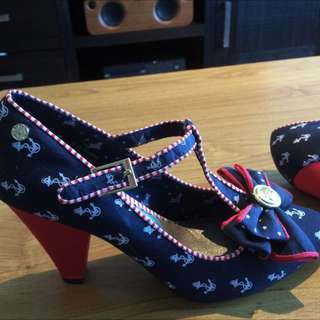Women Shoes Blue And Red