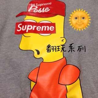 Supreme辛普森翻玩系列大學t