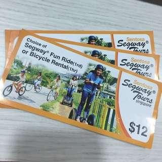 Segway Fun Ride / Bicycle Rental tickets