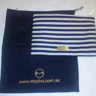 Mocha Navy/Beige Clutch/purse