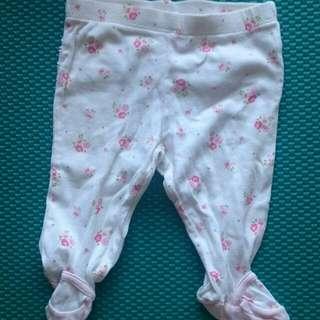 二手!Cater's嬰兒包腳褲兩件入